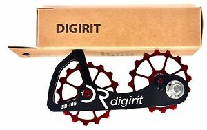 e85206584e8 DIGIRIT Oversized RED Pulley 16/16T Wheel System For Shimano 105 NIB ...