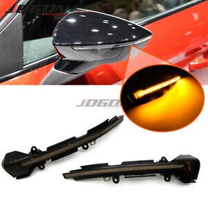 2x Dynamic LED Turn Signal Light Side Wing Rearview Mirror Indicator Blinker Light Fit for SEAT Leon Mk3 5F 2013-2018 Arona 2017 2018 Ibiza Mk5 2017 2018