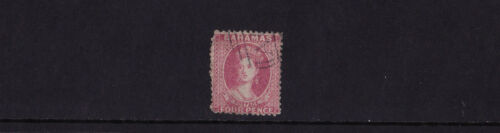 Bahamas 1862 4d Dull Rose Fine Used SG 18
