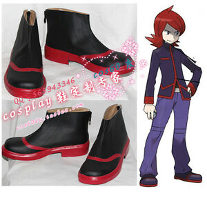 Pokemon-Adventures-Silver-Cosplay-Boots-Shoes-S008