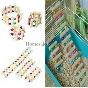 Bird-Swing-Wooden-Bridge-Ladder-Climb-Cockatiel-Parakeet-Budgie-Parrot-Pet-y