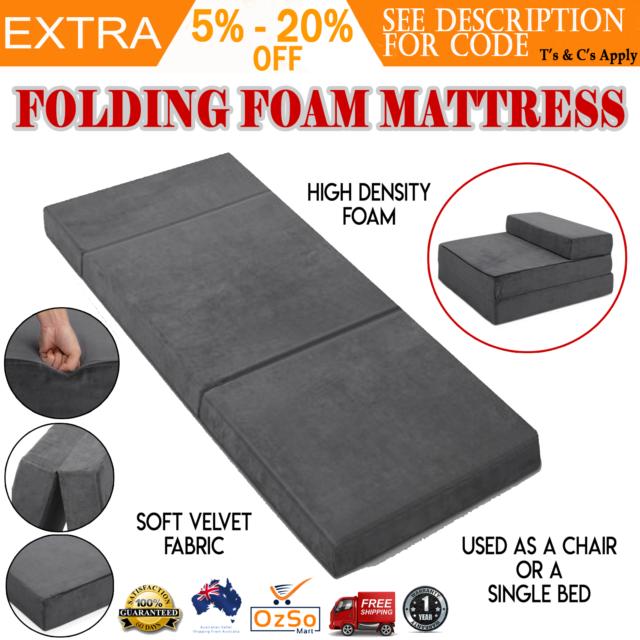 Folding Foam Mattress Portable Sofa Bed Foldable Mat Floor Lounge Recliner Chair