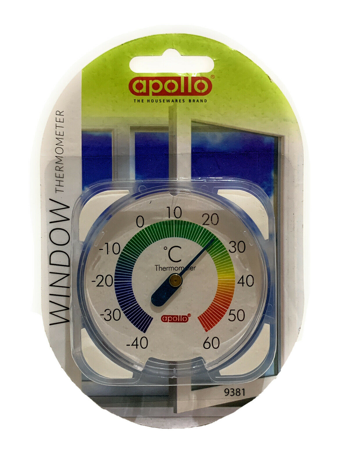Apollo Window Thermometer To Check Accurate Temperature Outside & Greenhouse.