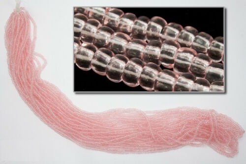 11//0 Transparent Light Rose Czech Seed Bead #CSG036 10, Gm, Hank, 1//2 Kilo