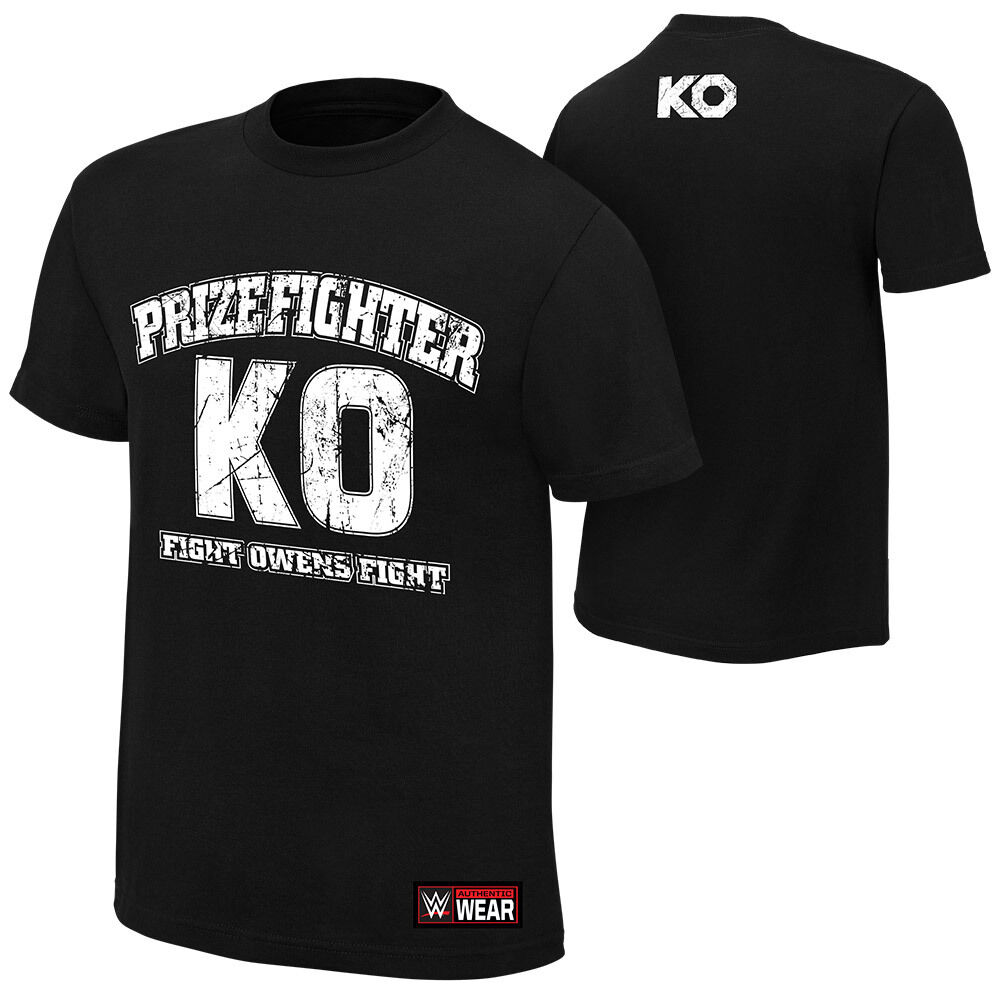 Official WWE - Kevin Owens Owens Owens  KO Prizefighter  Authentic T-Shirt | Rabatt