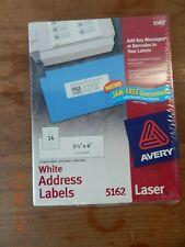 New Listingavery Easy Peel Mailing Address Labels Laser 1 13 X 4 White 1400box 5162