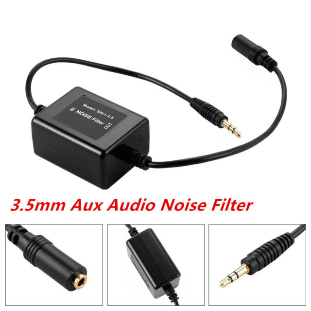 Car 3.5mm Aux Audio Noise Filter Ground Loop Isolator Eliminate Audio Stereo