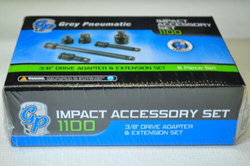 """3//8/"""" Drive 6 Piece Friction Ball Adapter//Extension Set Grey 1100"""