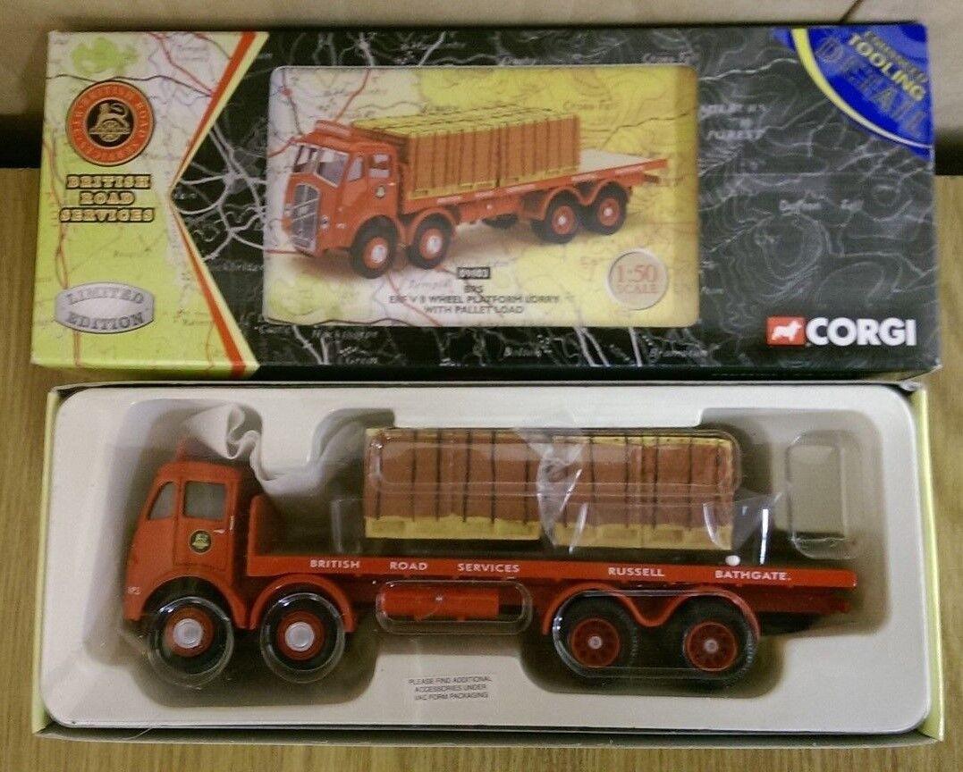 Corgi 09803 BRS ERF V 8 Wheel Platform Lorry & Pallet Load Ltd Ed 0003 of 5000