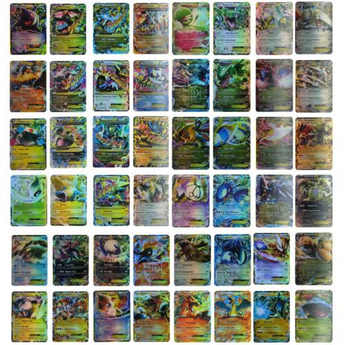 Pokemon 100 Flash Card Lot Rare 20 Mega+80 EX Cards English No Repeat Gift Kids