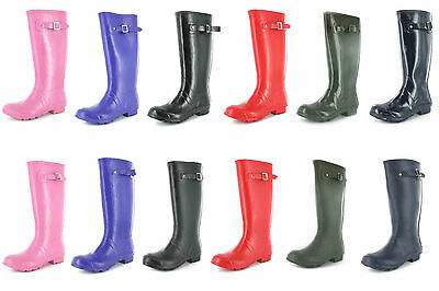 Ladies womens Girls wellington Wellies Boots Fashion Festival Waterproof  3-9