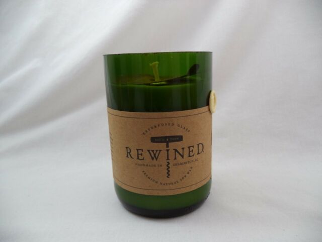 Recycle Wine Bottle Candle Champagne Scent