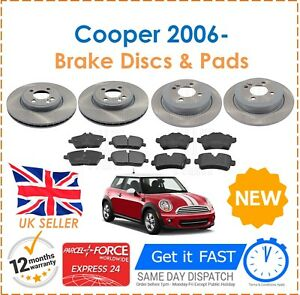 For Bmw Mini One Cooper D Models 2006 Front Rear Brake Discs