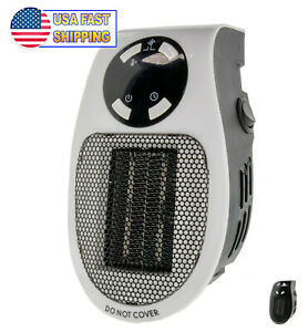 Portable-Ceramic-Mini-Heater-Wall-Outlet-Plug-In-Space-Heater-400W-Timer-Digital