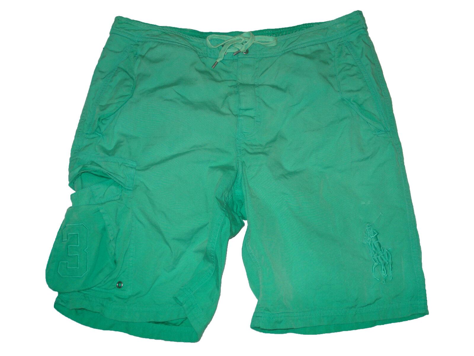 Polo Ralph Lauren Big Pony Palm Green Board Swim Surf Shorts Suit L