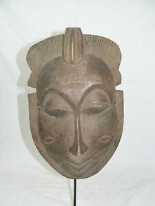 Holz Maske Baule Elfenbeinküste Afrika incl. Eisenständer   Afrika   Maske