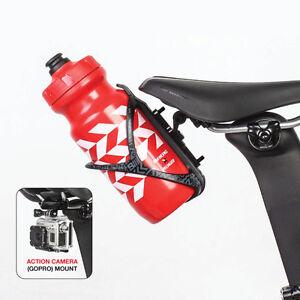 Bike Bicycle Saddle Mount Bottle cage Holder Rear Bracket Rail Seat ... a74ba2369bbfc