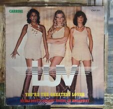 "LUV / YOU'RE THE GREATEST LOVER - 7"" (1978 - Carrere 001 first catalogue number)"