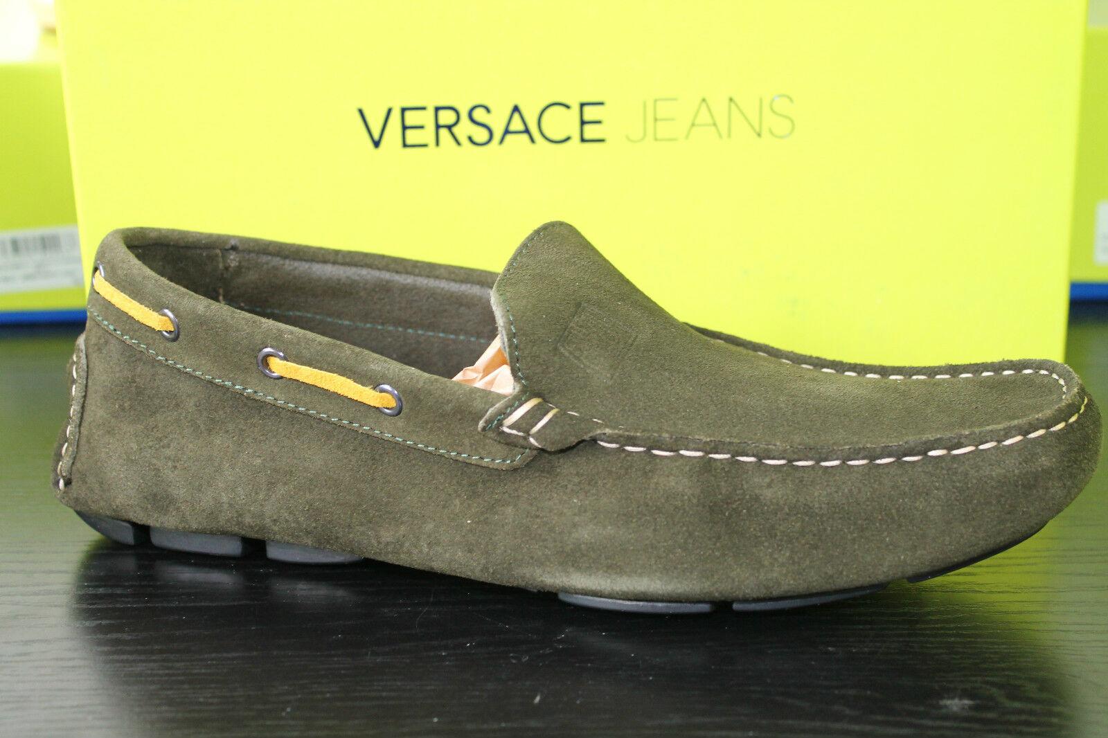 Versace Jeans Driving Shoe OLIV Wildleder Gr. 45