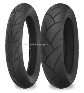 Shinko Sr740 741 130 70 17 Rear 110 70 17 Front Motorcycle Tires 4 Ply Rated Ebay