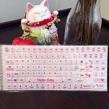 Hello Kitty Computer Keyboard Sticker for Korean & English Laptop PC Windows