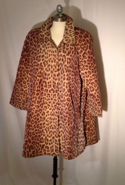 Gorgeous Cover-up giraffe print swing  Rain Slicker coat  jacket size large