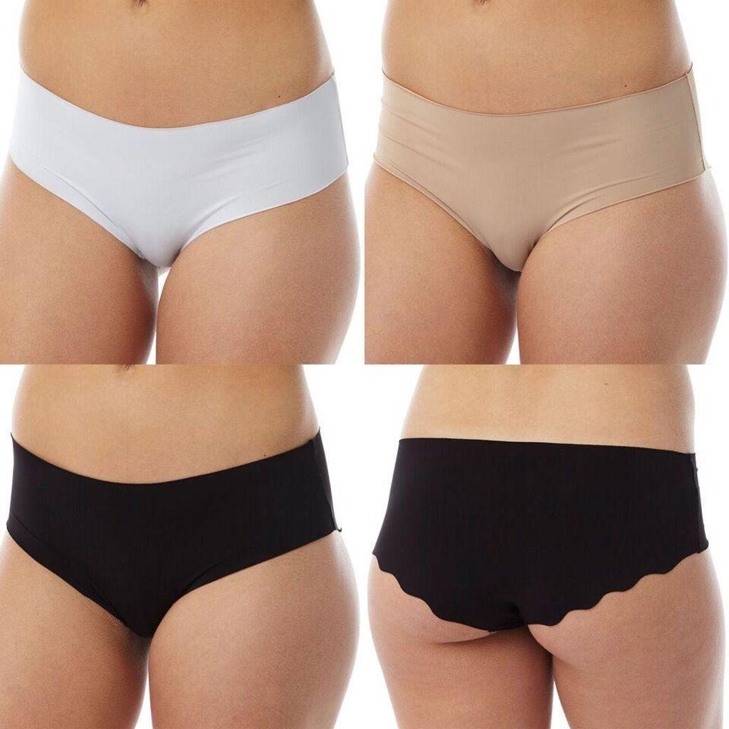 ladies knickers No VPL peach or white 8 to 16 M /& S