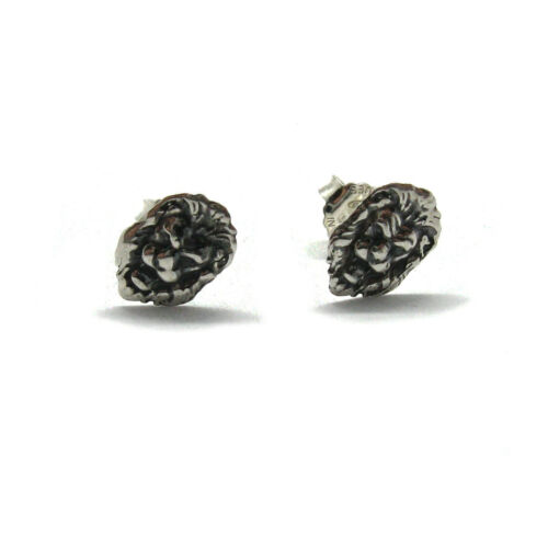 Sterling silver earrings on post solid hallmarked 925 Lion E000750