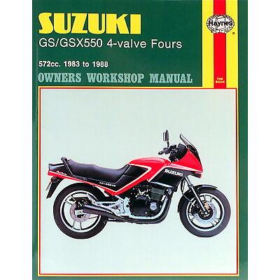 1133 Haynes Suzuki GS/GSX550 4-valve Fours (1983 - 1988) Workshop Manual