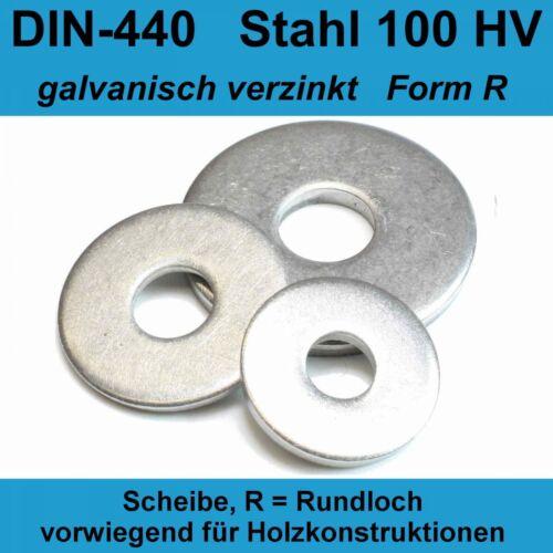 DIN 440 R 13,5 Unterlegscheiben Holzbauscheiben A2 Edelstahl ISO 7094 M12 20-500
