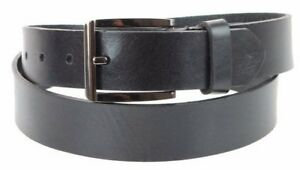 Men/'s Steer Hide Leather Dress Belt 32MM With Brushed Gold Buckle Made In USA