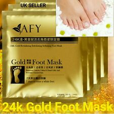 Foot Peeling Mask Cuticle Callus Dead Skin Hard Dry Skin Exfoliating 24k Gold UK