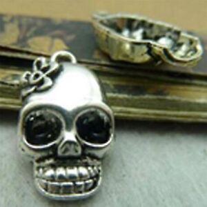 Avoir Un Esprit De Recherche Lot De 10 Pcs Argent Crâne Charms Antique Tibetan Silver Tone 1 Faces Te1321-afficher Le Titre D'origine Grand Assortiment