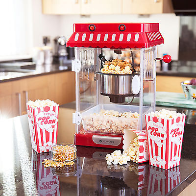 Antony Craig Electric Retro Cinema Style Kettle Popcorn Popper Maker Machine