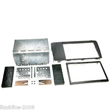 CT23VL01A VOLVO S60 2004 to 2009 BLACK DOUBLE DIN FASCIA ADAPTER PANEL KIT