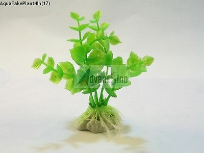 "(S17) 4"" Inch Realistic Artificial Plants for Aquarium/Fish Tank (SHIP FROM USA)"