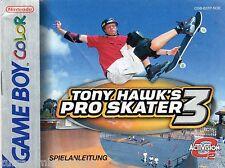 GB Color Spielanleitung Tony Hawk´s / Pro Skater 3   ...