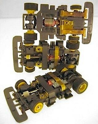 1 1991 TYCO TCR Yel Wheel Wide Slot less Car Chassis Unused Total Control Racing