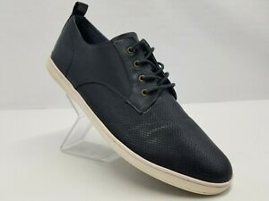 navy blue Leather Casual Shoes Size