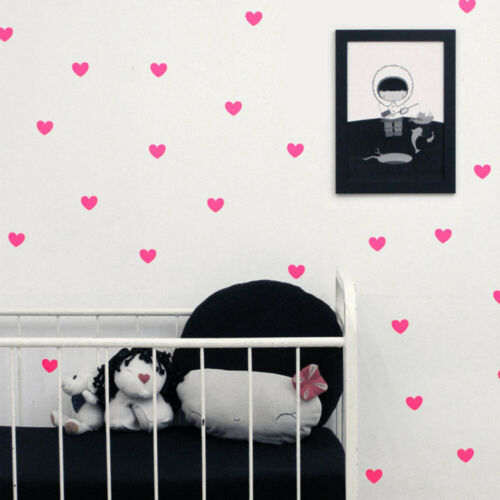 45pcs Heart Wall Stickers DIY Decals for Kids Bedroom Nursery Decor d