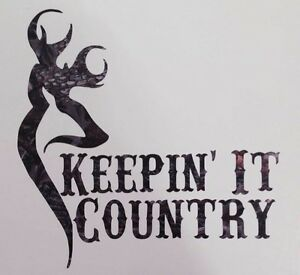 Camo Keepin It Country Truck Vinyl Decal  Muddy Boy Girl Buck - Country boy decals for trucks