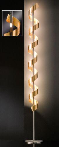 LED Stehleuchte Honsel Spirale 44926 Goldfarben Wohnraumbeleuchtung Standlampe