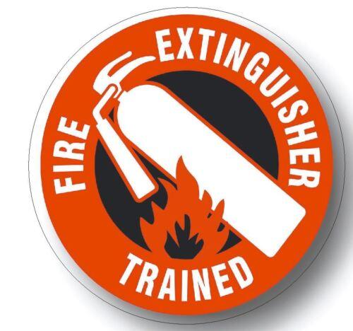 Extincteur formés Casque Autocollant Casque Autocollant Sécurité étiquette H3