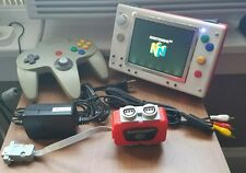 White & Red 3D Printed Portable Nintendo 64 w/ Controller, A/V Cord, & Charger