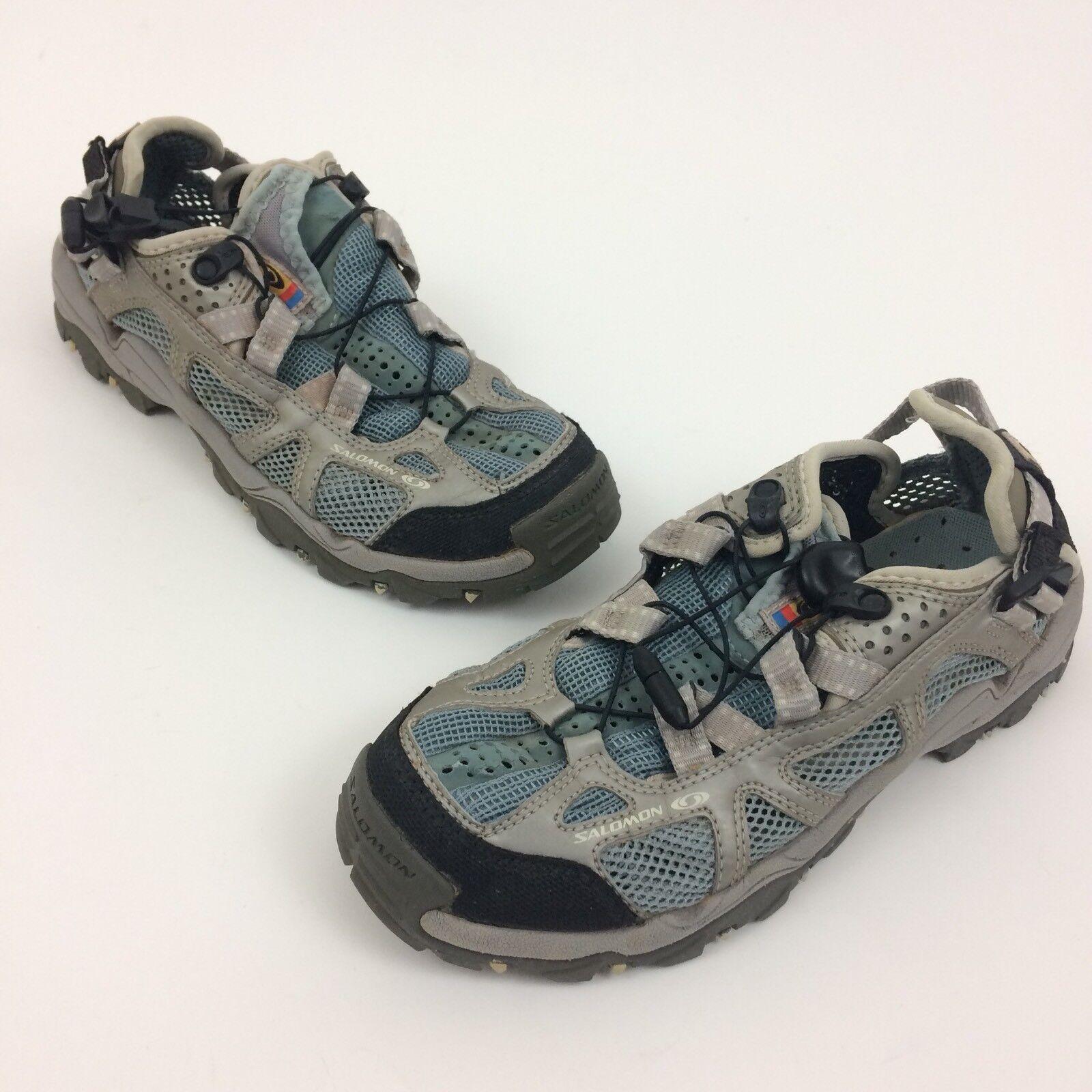 Zapatos para Deportivos Salomon Contagrip para senderismo y Malla gris para Zapatos Mujer Talla 7.5 f78c40