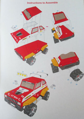 Kids Make Your Own Book Farm Truck Seaside Fairy 7 Designs NEW Fire Engine