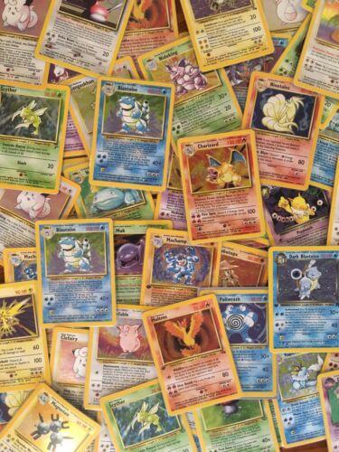 Read Description Vintage Pokemon 55 Card Lot Holos /& 1st editions guaranteed