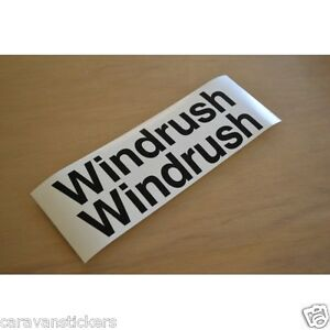 Fringant Cotswold Windrush S3 Caravane Nom Autocollants Decals Graphics-paire-afficher Le Titre D'origine Demande DéPassant L'Offre