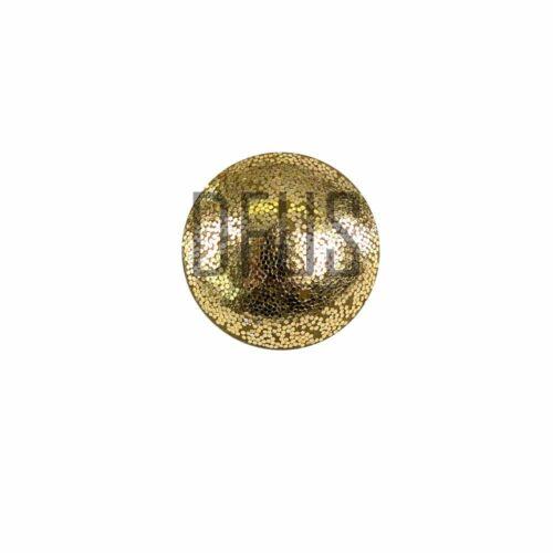 Métal solide sans couverture boucle bouton retour grand or 24mm upholstery bouton