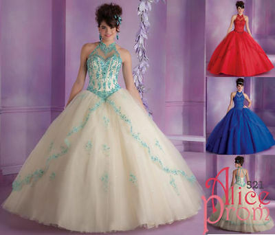 Charm Lace Evening/Prom/Formal/Party/Quinceanera dresses/Dance/Bridal Ball gown